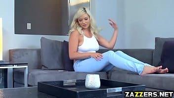 Bollocking blonde babysitter